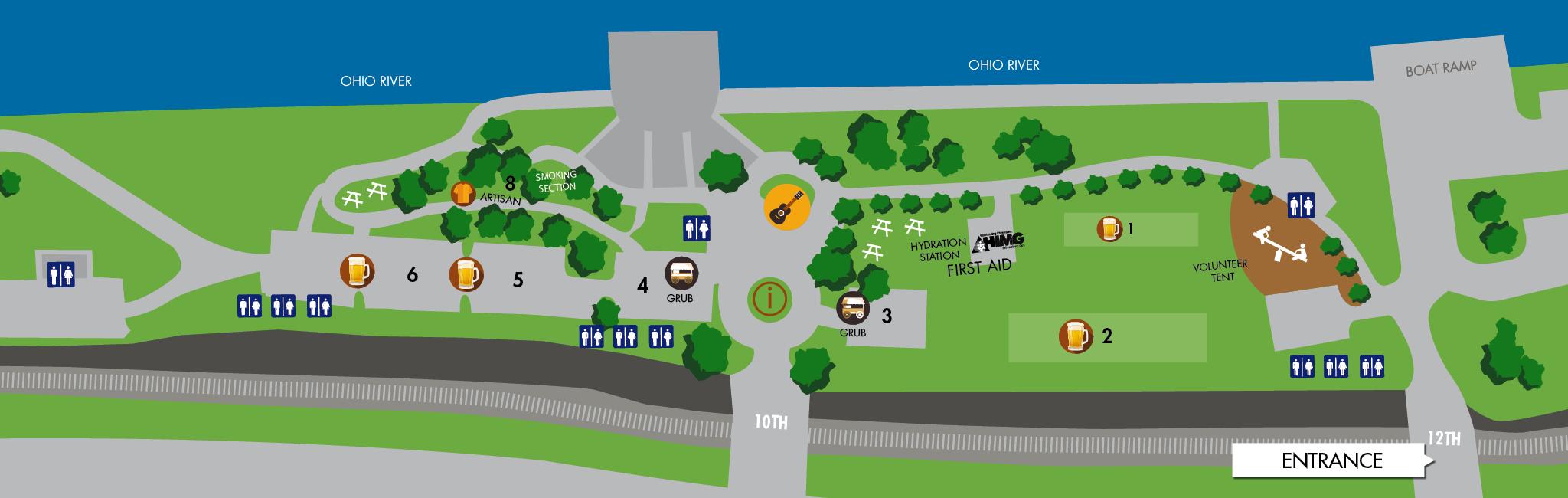 Rails & Ales Festival Map